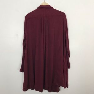 Free People Tops - Free People Spin Me Tunic Dress Maroon Red Small
